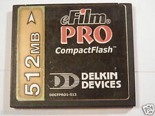512 MB eFilm PRO COMPACT FLASH CF CARD USED IN CAMERAS,PDA'S,GPS