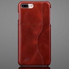 Coque Etui Protection en Cuir avec  Rangement Carte pour iPhone 7 Plus / Marron