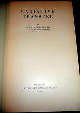 Radiative Transfer by Chandrasekhar, 1950 1stEd, Nobel Prize. Stellar Physics