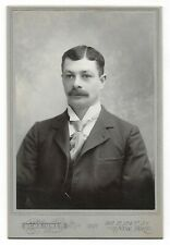 "1897 Cabinet Photo Handsome man with Suit Schaidner NYC 4.25""x6.5"""
