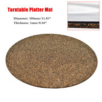 NEW Cork & Rubber Turntable Platter Mat Slipmat Anti-Static For LP Vinyl Record