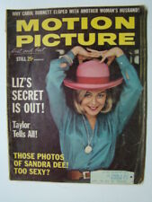 Motion Picture Magazine Sandra Dee Photograph Cover & Elvis Presley Pin-Up 1963