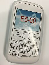 Nokia E5-00 Fitted Silicone Case Cover - White SSNOKE5-A Brand New Original Pack