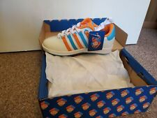 K-SWISS Classic VARSITY LOW White Rainbow Glitter Customs Hand Painted 7y