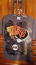 GRATEFUL-DEAD-MLB-SAN-FRANCISCO-GIANTS-2011-CONCERT-TOUR-T-SHIRT-M-BROWN