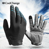 Cycling Bike Full Finger Gloves Shockproof Breathable Touch Screen Sports Gloves