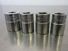 Lot (4) Vintage Snap On 12-Point Shallow Socket SW321 SW261 SW-18M 1,13/16, 18mm