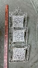 3 Tier Wrought Iron Wall Pocket Letter Holder