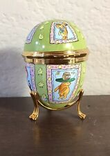 Limited Edition Halcyon Days Enamel Trinket Box Winnie The Pooh Easter Hat Egg