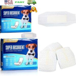 12X19 Incsh Super Absorbent Disposable Male Dog Wrap 50 Count Small Pet Supplies