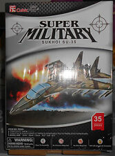 PUZZLE CUBIC FUN 3D  SUPER MILITARY AEREO SUKHOI SU-35 Fighter Jet