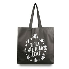 Official Disney Ladies - Alice in Wonderland - Mad Here - Tote Bag - Grey