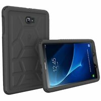 Poetic Turtle Skin Rugged 100% Silicone Case for Samsung Galaxy Tab A 10.1 Black