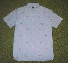 Men's (M) POLO-RALPH LAUREN Blue USA FLAG Oxford Shirt (short sleeve)