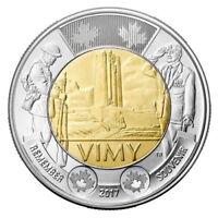 Canada 2017 Wwii Memorial Vimy Ridge $2 Commemorative Mint Coin.