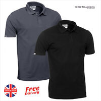 JCB Essential Mens Short Sleeve Polo Shirt Work Top T-Shirt BLK Heavyweight Grey