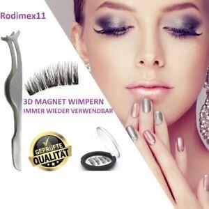 ProfessionelleXXL-3D-Magnet-Wimpern-mit-3-Magneten-künstliche-Wimpern+Pinzette