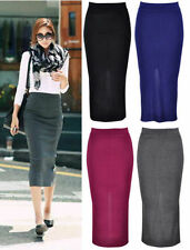 Mid-Calf Polyester Straight, Pencil Machine Washable Skirts for Women