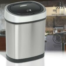 Slimline 12L capacity electronic waste trash garbage bin with automatic opening
