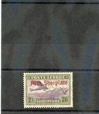 ALBANIA Sc C27(MI 215)*VF LH `1929 2F OLIVE GREEN, SCARCE AIRMAIL $750