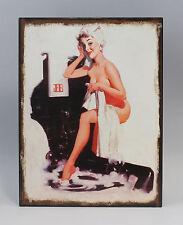 Imagen reclamo Letrero de metal Pin-Up Girl Bañera Nostalgia Vintage 9973210