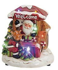Nikolaus Weihnachtsstand Rentier Deko Weihnachtsmann Stand mit Beleuchtung 15454