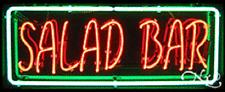 "BRAND NEW ""SALAD BAR"" 32x13 BORDER REAL NEON SIGN w/CUSTOM OPTIONS 10198"