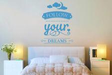 Follow Your Dreams Vinilo Pegatinas De Pared Adhesivo Decoración