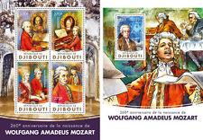 Djibouti Wolfgang Amadeus Mozart Compositores Music Personalidades MNH