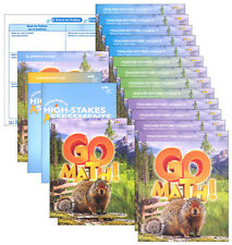 Grade 4 Go Math Homeschool Kit Teacher Editions 2015 4th Curriculum Package