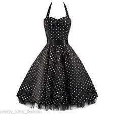 Cotton Blend Polka Dot 50's, Rockabilly Dresses for Women