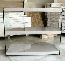 Limited Stock # Grey Gloss Glass 3 Shelving Unit storage#Free Delivery