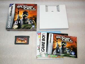 Rare SPLINTER CELL Pandora Tomorrow Gameboy Advance Complete Video Game 2004 GBA