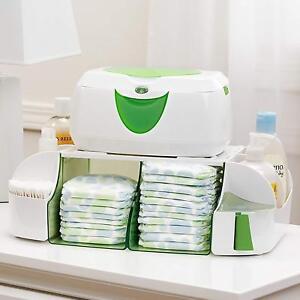 Toallitas calientes, cremas para pañales organizador, toallitas y más,Verde