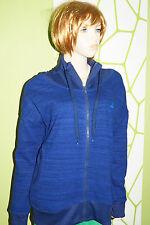 adidas Performance Gr.L 42-44 blau Sweat Shirt FULL ZIPP JACKET Striped FZ FL TT