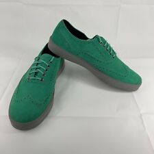 Cole Haan Bergen Wingtips Teal Green Oxford Style Casual Shoes Size 11 M