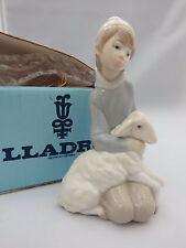 """As Is"" Lladro 4676 Shepherd with Lamb - w/ Box"