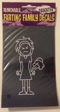 New - Removable Window Cling - Farting Family - DAUGHTER