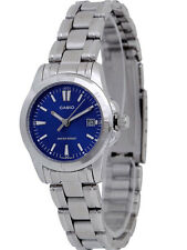 Genuine Casio Dress Watch Women's Analog Quartz Blue Dial Date LTP-1215A-2A2