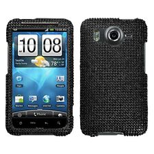 Black Crystal Bling Hard Case Cover for HTC Inspire 4G