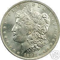 1883-0 MORGAN DOLLAR PCGS MS63