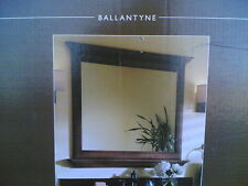 """NIB: Decorative 42""""x37"""" Bathroom Vanity or Hallway Mirror w/ Shelf (mocha finish"""