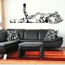 Wide 150cm Removable Sleeping Tiger Vinyl Wall Paper Decal Art Sticker Q919