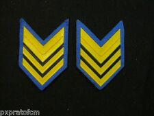 Coppia di Gradi Sergente Maggiore in PVC Esercito Italiano