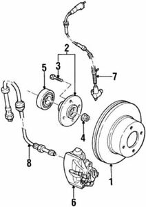 Genuine Ford Front Hub & Bearing F5RZ-1104-A