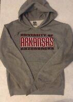 Vintage Arkansas Razorbacks Hoodie Adult Small, Gray