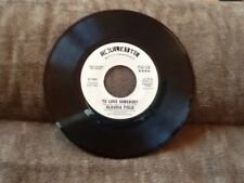 "Claudia Field ""Love Is Alright/To Love Somebody"" PROMO 45 On Roulette"