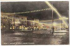 1909 Hewitt avenue at Night Everett WA Washington  Postcard