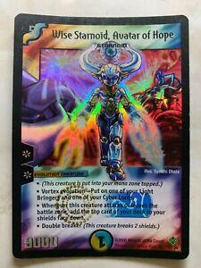 Duel Masters DM12 Wise Starnoid Avatar of Hope Thrash of the Hybrid Megacreature