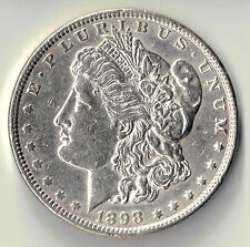 1898  MORGAN SILVER $1 DOLLAR USA COIN UNC DBW